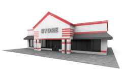grand bâtiment de magasin 3d Photographie stock