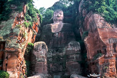 Grand Buddha, China. Biggest Buddha in the World in Leshan, Sichuan, China Royalty Free Stock Images
