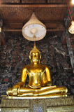 Grand Buddha Gold Mural Royalty Free Stock Images