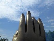 Grand Buddha's Hand Statue At Lingshan Stock Image