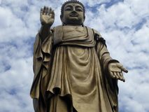 Grand Buddha statue at Lingshan Stock Image
