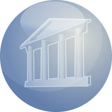 Grand building with pillars. Illustration ofa grand building with pillars showing government finance or other establishments Stock Image