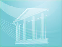 Grand building with pillars. Illustration ofa grand building with pillars showing government finance or other establishments Stock Photo