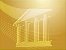 Grand building with pillars. Illustration ofa grand building with pillars showing government finance or other establishments Stock Photography