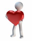 Grand cadeau de l'amour Image stock