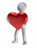 Grand cadeau de l'amour illustration libre de droits