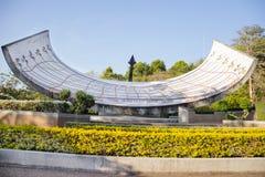 Grand cadran solaire en Thaïlande photographie stock libre de droits