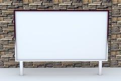 grand cadre 3D blanc avec le fond Photo libre de droits