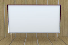 grand cadre 3D blanc avec le fond Image libre de droits