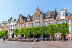 Grand cafe on market square, Haarlem, Netherlands Royalty Free Stock Images
