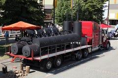 Grand camion de BBQ d'Américain Image libre de droits