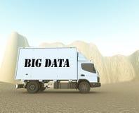 Grand camion de données Images stock
