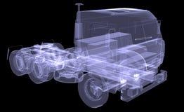 Grand camion. Rayon X illustration libre de droits