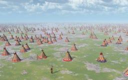 Grand camp indien illustration stock