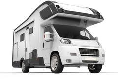 Grand camping-car noir et blanc illustration de vecteur