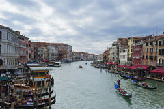 Grand Canal à Venise avant la tempête Photo libre de droits