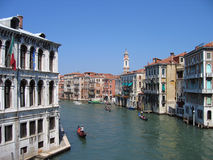 The Grand Canal  1 – Venice, Italy. The Grand Canal is the principal waterway of Venice. Its origins are probably natural, one of the many riverbeds that once Stock Image
