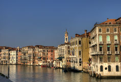 Grand canal. On a beautiful day, Venice, Italy Royalty Free Stock Photo