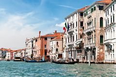 Grand canal. View of famous Canal Grande in Venice, Italy Stock Photos