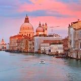 Grand Canal al tramonto Immagine Stock