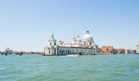 The Grand Canal and architecture in Venice, Italy. Basilica del Redentore Royalty Free Stock Photos