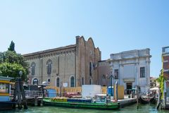 The Grand Canal and architecture in Venice, Italy. Fine art academy. Royalty Free Stock Photo