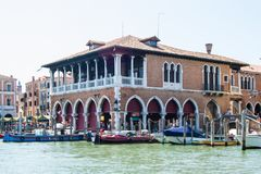 The Grand Canal and architecture in Venice, Italy. Royalty Free Stock Photo