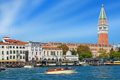 Grand Canal in the area of San Marco Square, Venice Royalty Free Stock Image
