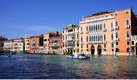 Grand Canal arkitektur Arkivfoto