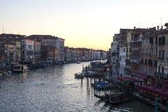 Grand Canal au coucher du soleil image libre de droits