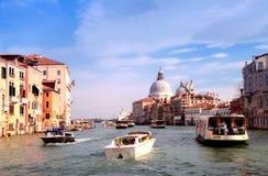 Grand Canal and Basilica di Santa Maria della Salute, Venice, It Stock Image