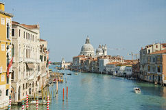 Grand Canal and Basilica Santa Stock Photo