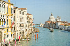 Grand Canal and Basilica Santa Royalty Free Stock Image