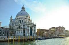 Grand Canal and Basilica Santa Stock Photos