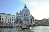 Grand Canal and Basilica Santa Royalty Free Stock Photography