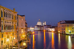 Grand Canal and Basilica Santa Royalty Free Stock Images