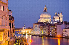 Grand Canal and Basilica Santa Royalty Free Stock Photos
