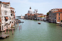 Grand Canal and Basilica Stock Image