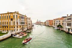 Grand Canal and Basilica Santa Maria della Salute Royalty Free Stock Photos