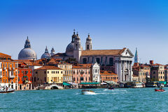 Grand Canal.Basilica Santa Maria della Salute, Venice, Royalty Free Stock Photo
