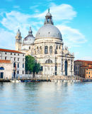 Grand Canal and Basilica Santa Maria della Salute in Venice Stock Photo