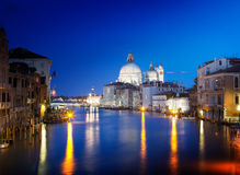 Grand Canal and Basilica Santa Maria della Salute, Venice Stock Photos