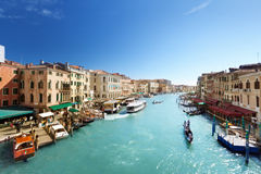 Grand Canal and Basilica Santa Maria della Salute, Venice Stock Photo