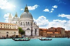 Grand Canal and Basilica Santa Maria della Salute, Venice, Italy Royalty Free Stock Photo