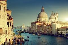 Grand Canal and Basilica Santa Maria della Salute, Venice Stock Photography