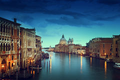 Grand Canal and Basilica Santa Maria della Salute, Venice Royalty Free Stock Image