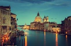 Grand Canal and Basilica Santa Maria della Salute, Venice Royalty Free Stock Photos