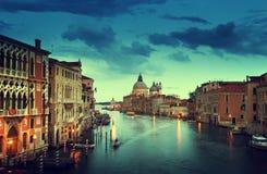 Grand Canal and Basilica Santa Maria della Salute Stock Photography