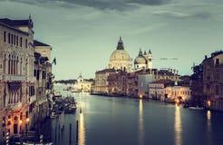 Grand Canal and Basilica Santa Maria della Salute, Venice Stock Image