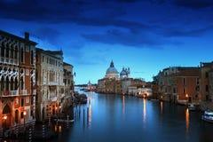 Grand Canal and Basilica Santa Maria della Salute Royalty Free Stock Photo